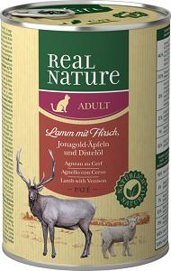 Real Nature Classic konzerv adult bárány&szarvas 400g