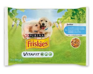 FRISKIES tasak junior MP szószos 4x100g