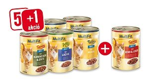 ÚJ ÍZEK - 5+1 vásárlása esetén Pl. MultiFit konzerv paté adult marha&máj 400g 1 db ára: