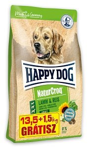 1,5 kg AJÁNDÉK - HAPPY DOG Natur Croq száraz kutya eledel (többféle) Pl. bárány&rizs 13,5+1,5kg