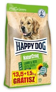 1,5 kg AJÁNDÉK – HAPPY DOG Natur Croq száraz kutya eledel (többféle) Pl. bárány&rizs 13,5+1,5kg