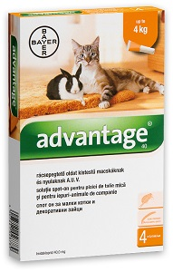 Advantage oldat cicának/nyúlnak (többféle) Pl. S 1×0,4ml