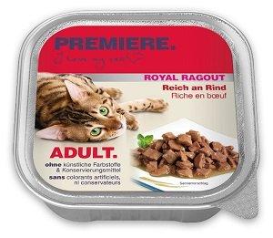 4+1 AKCIÓ - PREMIERE Royal Ragu tálkás macska eledel 100g 1 db ára (4+1 esetén):