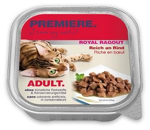 4+1 AKCIÓ – PREMIERE Royal Ragu tálkás macska eledel 100g 1 db ára (4+1 esetén):