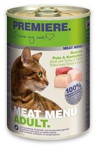 5+1 AKCIÓ - PREMIERE Meat Menu konzerv (macska) Pl. 400g 1 db ára (5+1 esetén):