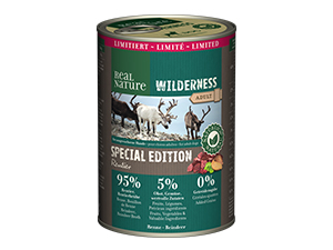 Real Nature Wilderness konzerv limitált adult rénszarvas 400g