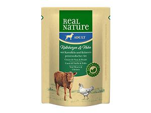 Real Nature Classic tasak adult borjúszív&csirke 300g