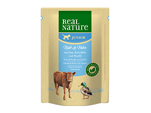Real Nature Classic tasak junior borjú&csirke 300g