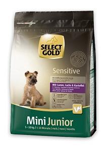 SELECT GOLD Sensitive mini száraz kutya eledel Pl. Junior bárány 1kg