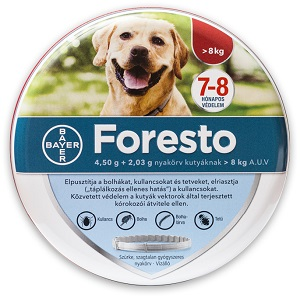 Foresto kutya/macska nyakörv Pl. 8kg alatt 38cm