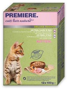 ÚJ - PREMIERE Cats Love Nature Delux Ragu kitten tasak MP 12x100g