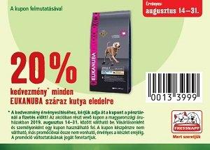 20% KEDVEZMÉNY KUPONNAL - EUKANUBA száraz eledel kutyáknak (többféle)