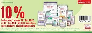 10% KEDVEZMÉNY KUPONNAL – PET BALANCE és PET BALANCE MEDICA eledelek, táplálékkiegészítők
