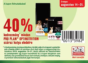 40% KEDVEZMÉNY KUPONNAL - PRO PLAN száraz kutyaeledel (többféle)