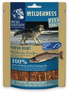 REAL NATURE WILDERNESS Fish Snack (többféle) Pl. Fresh Hunt lazac 70g