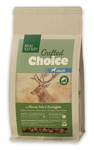 REAL NATURE Crafted Choice száraz kutya eledel (többféle) Pl. adult szarvas&kacsa 1kg