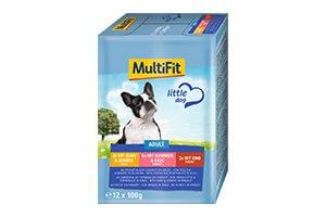 10 db esetén MultiFit Little Dog tasak MP adult 12x100g 1 dob. Ára: