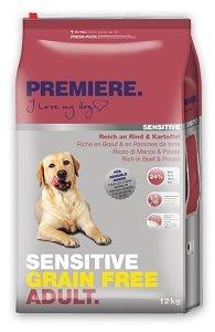 PREMIERE Sensitive Green free száraz kutya eledel Pl. adult marha&burgonya 12kg