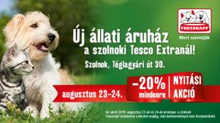 Új Fressnapf üzlet nyílik Szolnokon!