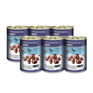 6 db esetén PREMIERE Meati kutya konzerv 400g 1 db ára: