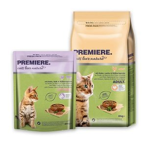 ÚJ - PREMIERE Cats Love Nature (többféle) Pl. kitten csirke 300g