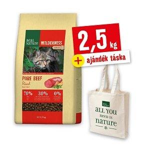 Ajándék BEVÁSÁRLÓTÁSKA - REAL NATURE WILDERNESS száraz macska eledel 2,5kg