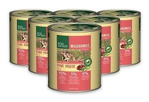 6 db esetén REAL NATURE WILDERNESS konzerv Pl. Junior lóhús 800 g 1 db ára: