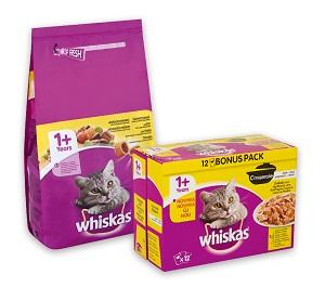 Whiskas száraz és nedves eledelek (többféle) Pl. steril 1,4kg