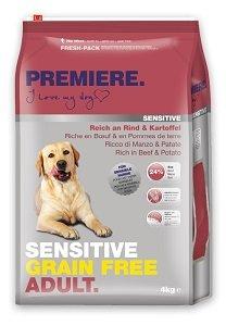 PREMIERE Sensitive Grain Free száraz eledel kutyáknak (többféle) Pl. adult marha&burgonya 4kg