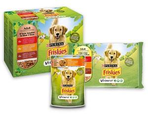 20% kedvezmény – FRISKIES kutya eledel (többféle) Pl. tasak adult MP szószos 4x100g