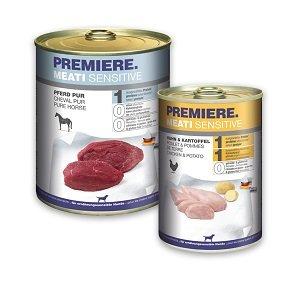 6+1 AKCIÓ - PREMIERE Meati Sensitive kutya konzerv (többféle) Pl. 800g 1 db ára (6+1 esetén):