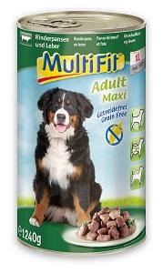 5+1 AKCIÓ - MutliFit konzerv kutyáknak (többféle) Pl. ragu adult maxi 1240g 1 db ára (5+1 esetén):