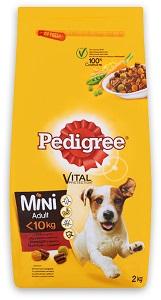 Pedigre száraz kutya eledel (többféle) Pl. mini marha&zöldség 2kg