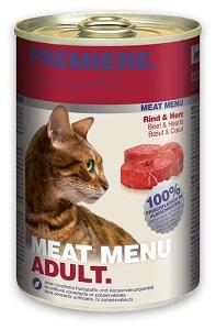 5+1 AKCIÓ - PREMIERE Meat Menu konzerv macskáknak (többféle) Pl. 400g 1 db ára (5+1 esetén)