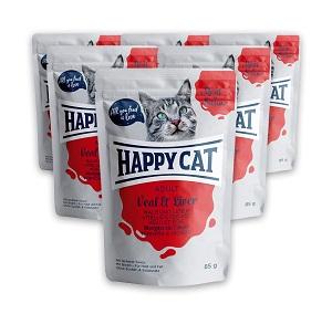 6 db esetén 20% kedvezmény – Happy Cat MS tasakos cica eledel 85g 1 db ára: