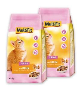 2 db esetén 15% kedvezmény - MultiFit száraz macska eledel (többféle) Pl. Junior csirke 2kg 1 db ára: