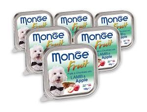 6 db esetén 20% kedvezmény - MONGE Fruit tálkás kutya eledel 100g 1 db ára: