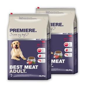 2 db esetén 20% kedvezmény - PREMIERE BEST MEAT száraz eledel (többféle) Pl. adult marha 12,5kg 1 db ára: