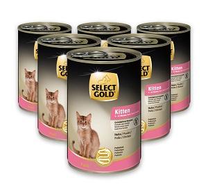 6 db esetén 20% kedvezmény - SELECT GOLD konzerv macska eledel (többféle) Pl. 400g 1 db ára: