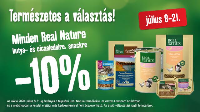 Természetes a választás: 10%-os Real Nature kedvezmény!