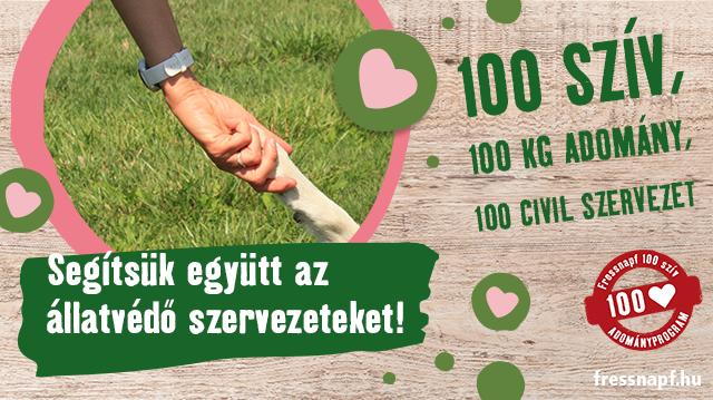 Fressnapf 100 szív adományprogram