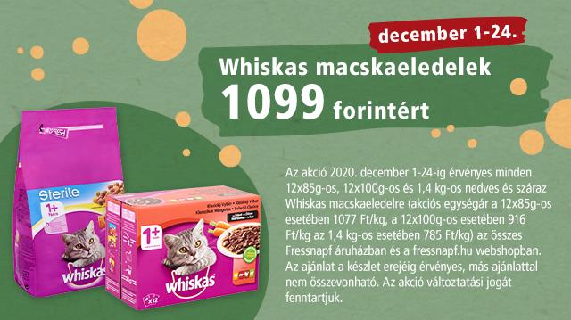 Decemberi Whiskas akció
